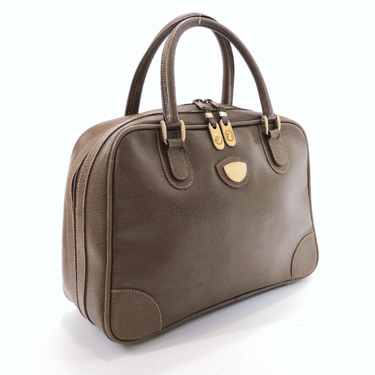 GUCCI Handbag vintage leather Brown Women Used