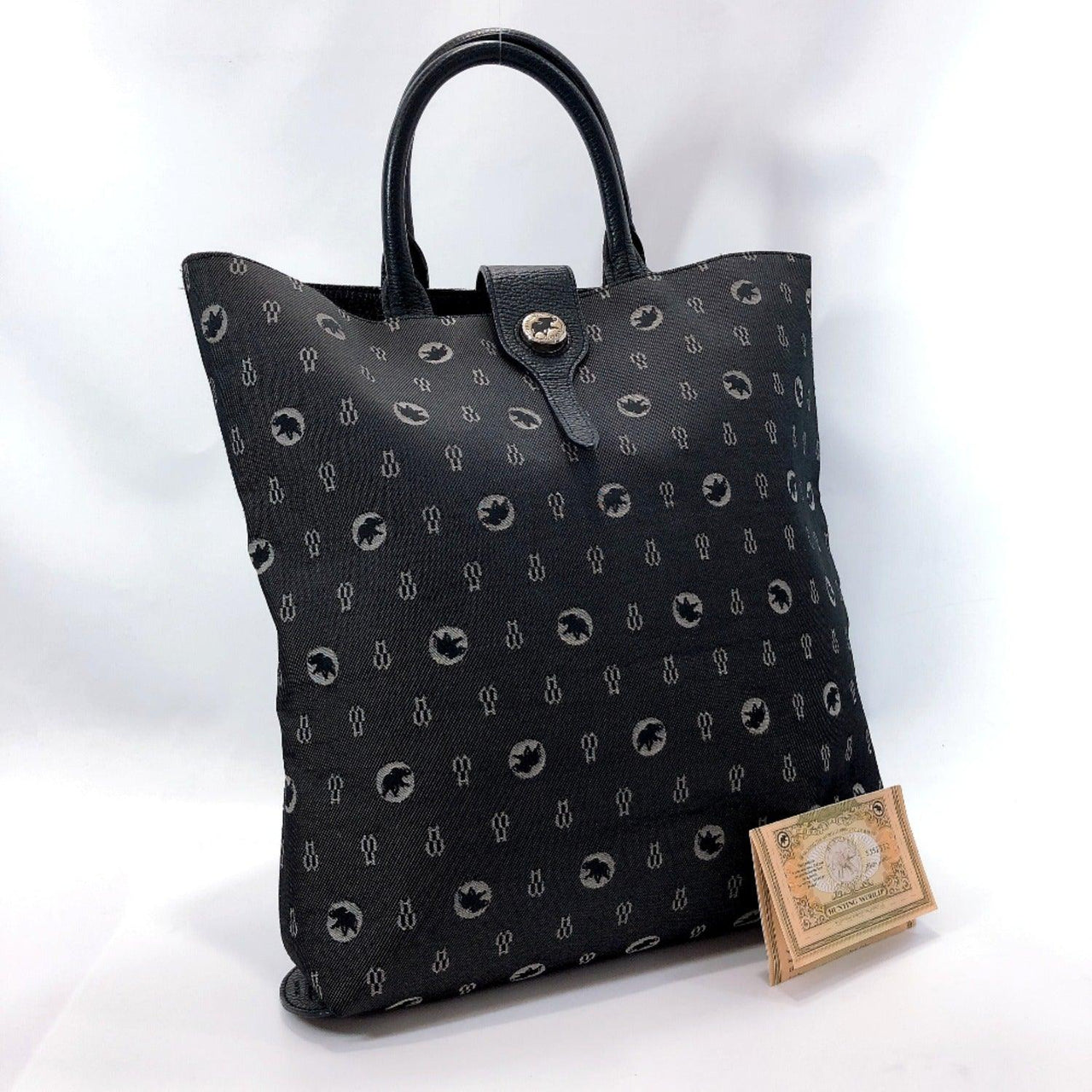 HUNTING WORLD Tote Bag canvas gray unisex Used