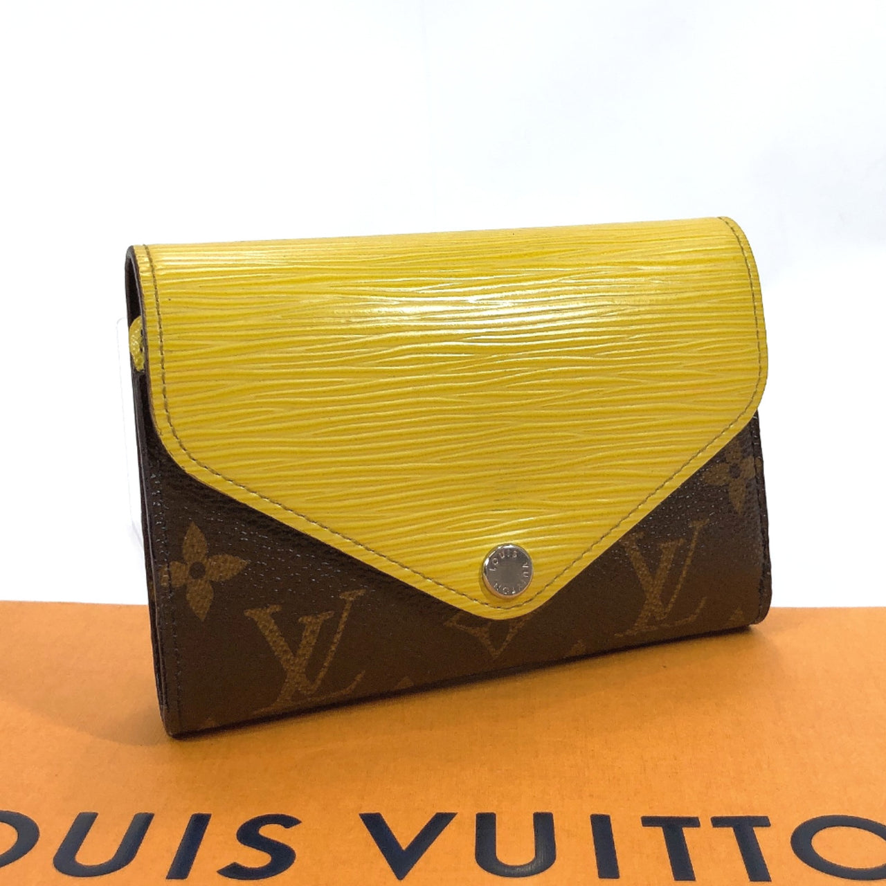 LOUIS VUITTON Tri-fold wallet M60427 Portefeiulle Mary Lou/Epi Leather/Monogram Brown yellow Used