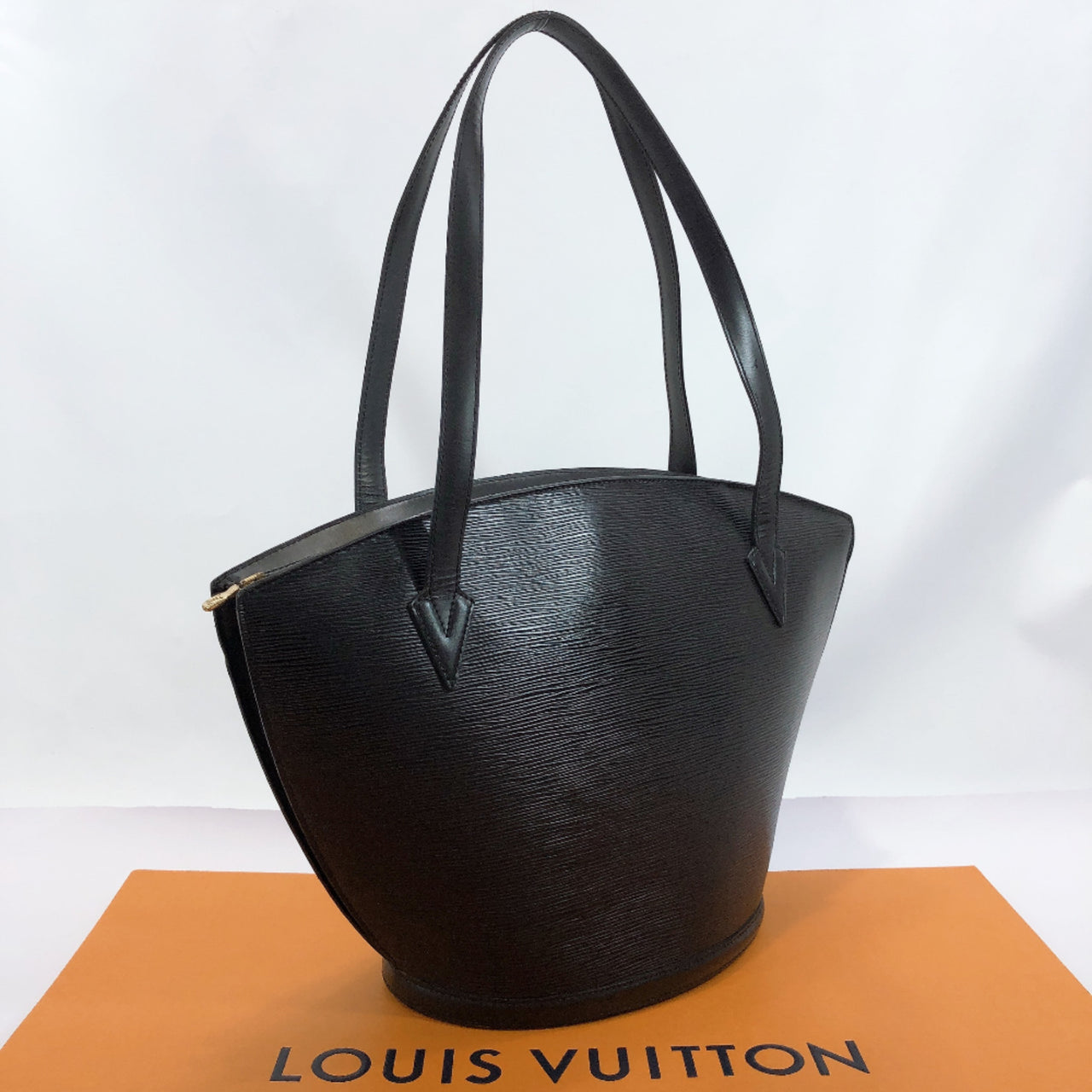 LOUIS VUITTON Shoulder Bag M52262 Sunjack shopping vintage Epi Leather black Women Used