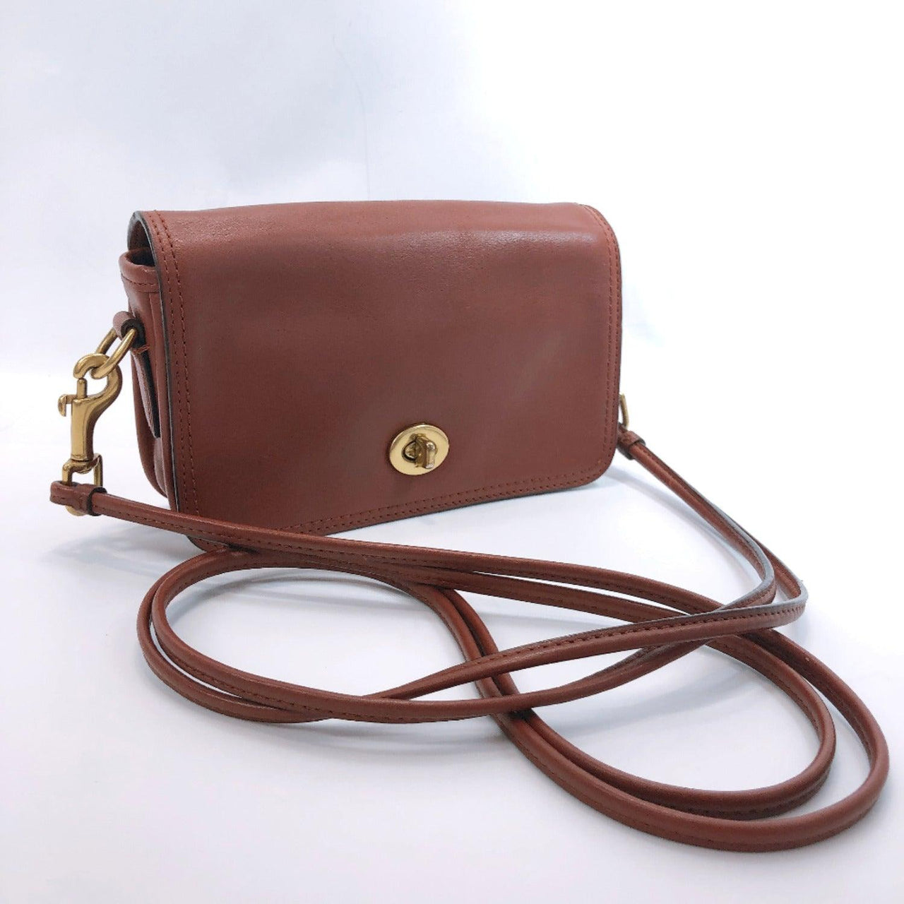 COACH Shoulder Bag leather Brown Women Used