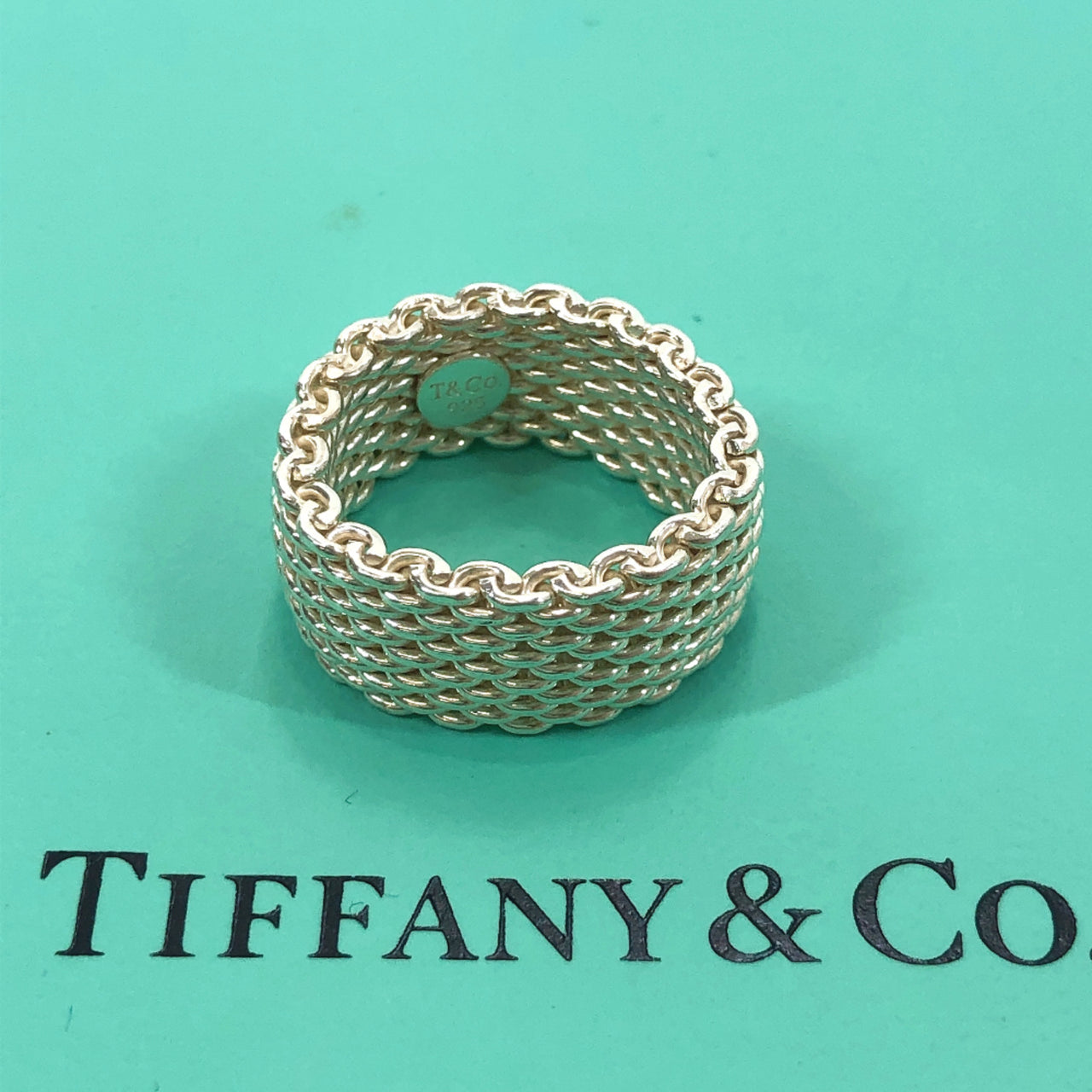 TIFFANY&Co. Ring Somerset mesh Silver925 11-12 Silver Women Used