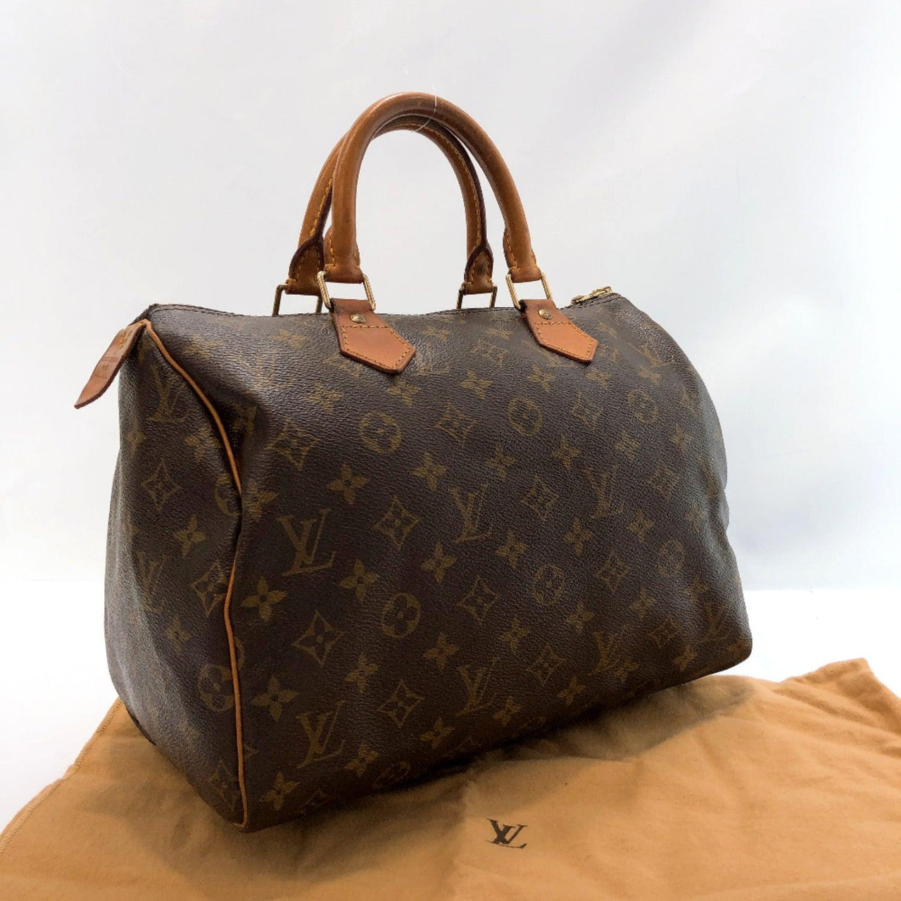 LOUIS VUITTON Handbag M41526 Speedy 30 vintage Monogram canvas Brown Women Used