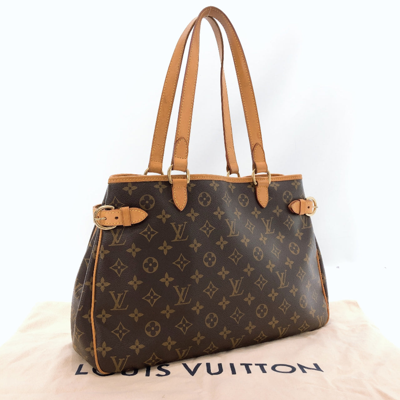 LOUIS VUITTON Tote Bag M51154 Batignolles Horizontal Monogram Brown Women Used