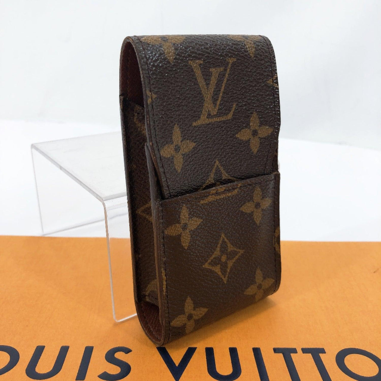 LOUIS VUITTON Other accessories M63024 Etui cigarette case Monogram canvas Brown Used