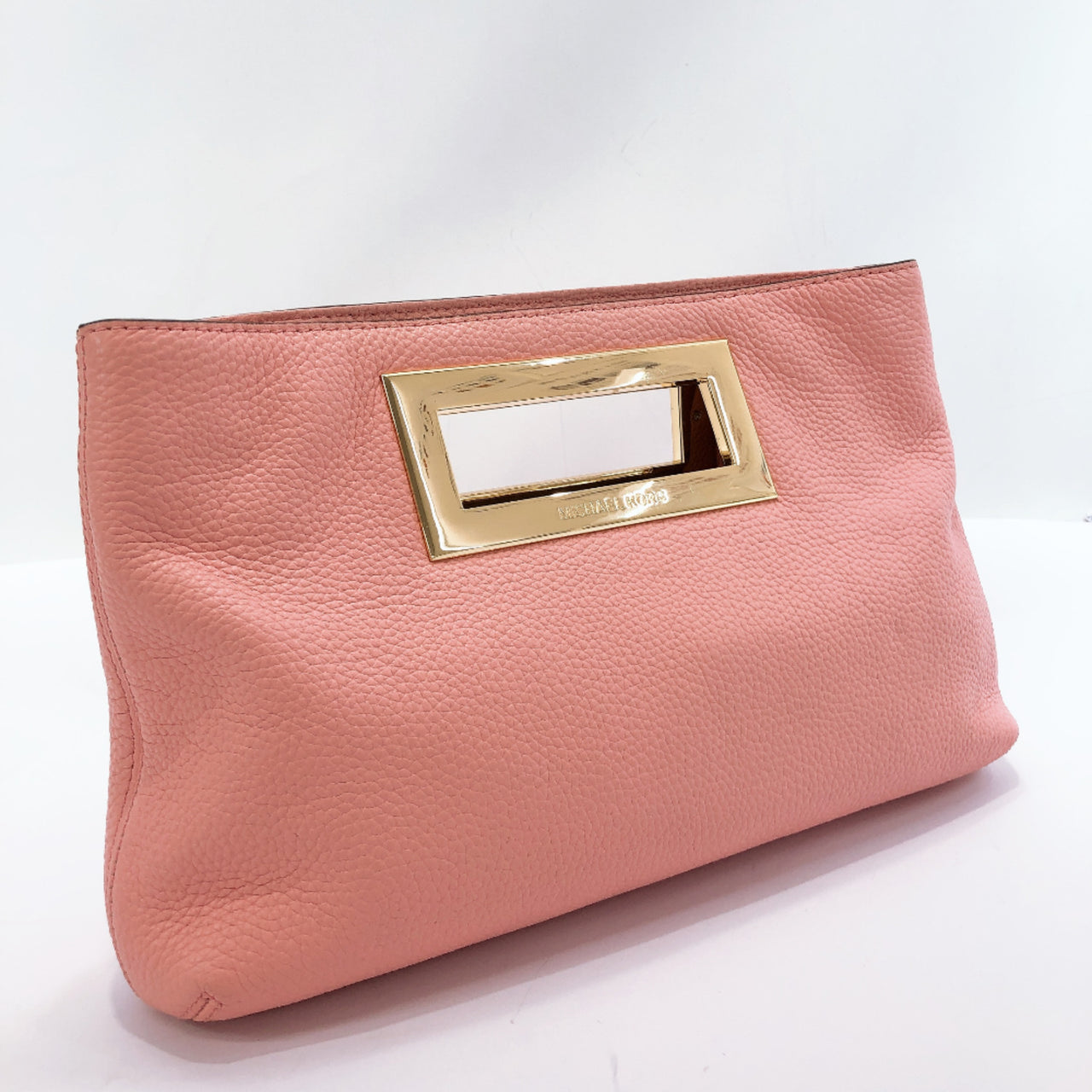 Michael Kors Clutch bag leather pink gold Women Used