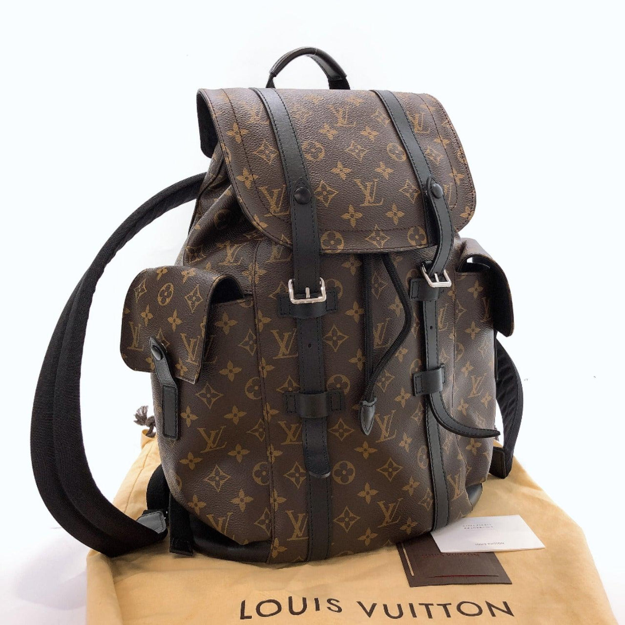 LOUIS VUITTON Backpack Daypack M43735 Christopher PM Monogram macacer Brown mens Used