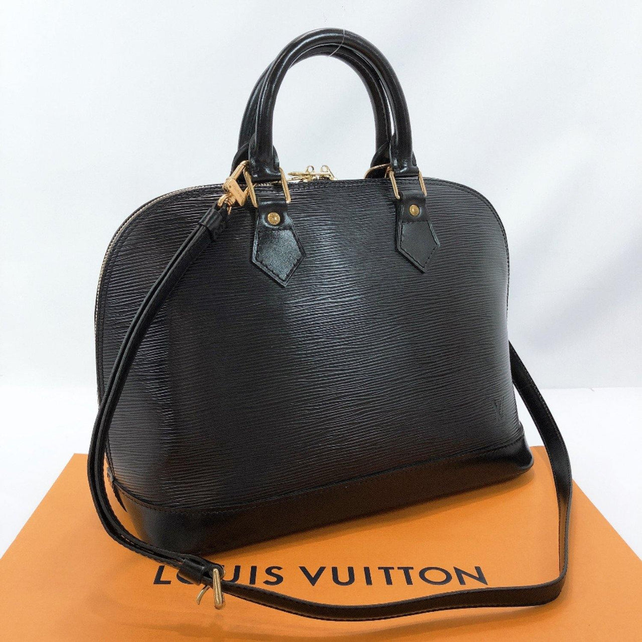 LOUIS VUITTON Handbag M40302 Alma PM Epi Leather black Women Used