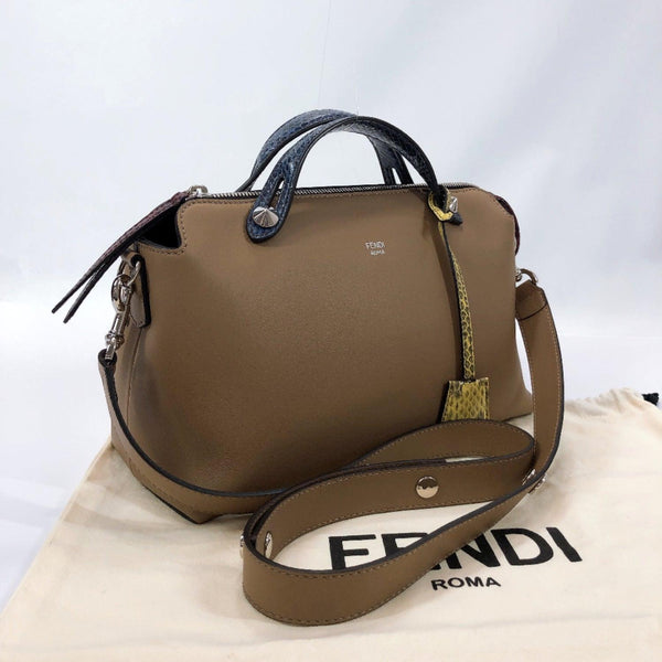 FENDI Shoulder Bag 8BL124 By the way 2way leather Brown blue Women New