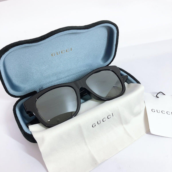 GUCCI sunglasses GG0044SA Wellington type Platstick black mens Used
