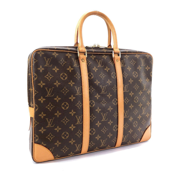 LOUIS VUITTON Business bag M40226 Porte de Cumman Voyage Monogram canvas/Leather Brown mens Used