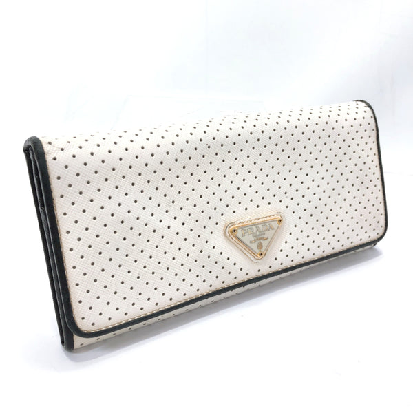 PRADA purse punching leather white Women Used