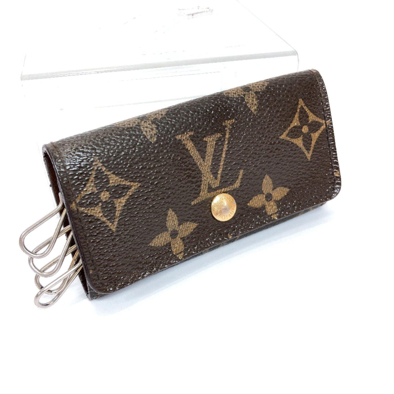 LOUIS VUITTON key holder M62631 Multicles4 4 hooks Monogram canvas Brown unisex Used