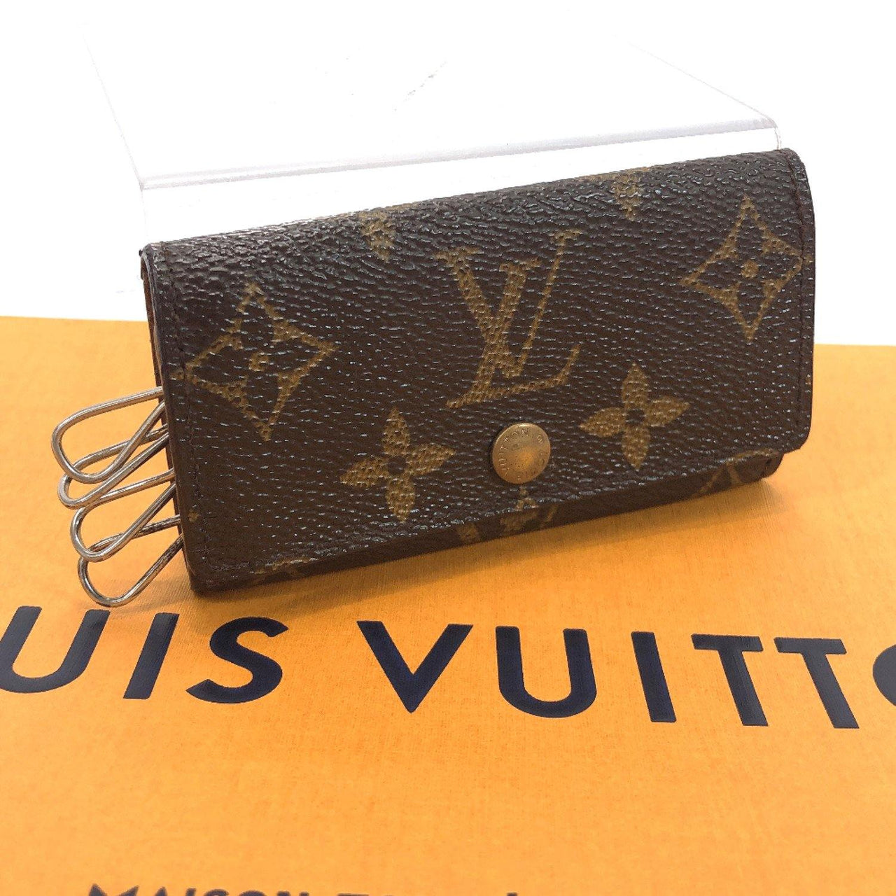 LOUIS VUITTON key holder M62631 Multicles4 4 hooks Monogram canvas Brown unisex Used - JP-BRANDS.com