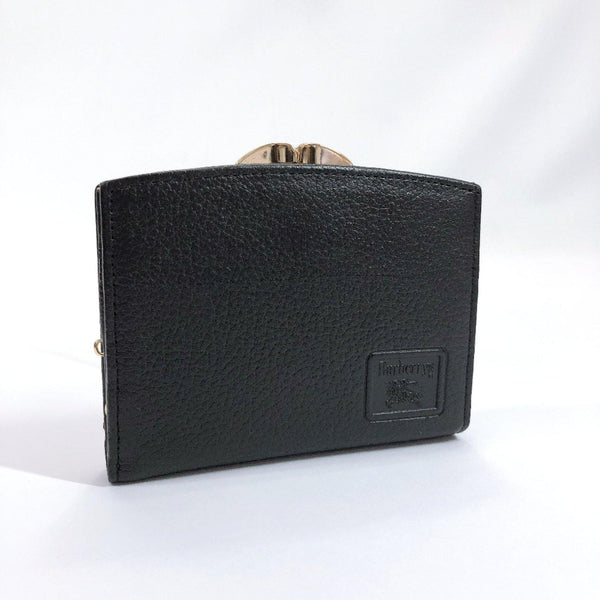 Burberrys wallet Gamaguchi leather black Women Used