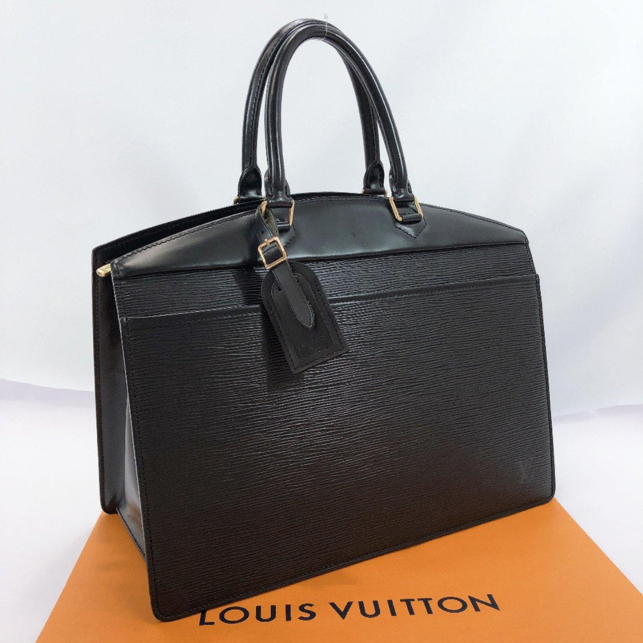 LOUIS VUITTON Handbag M48182 Riviera Epi Leather black Women Used