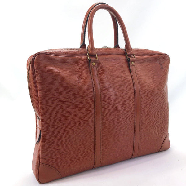 LOUIS VUITTON Business bag M54473 Porte Documan Voyagej vintage Epi Leather Brown Kenya Brown mens Used