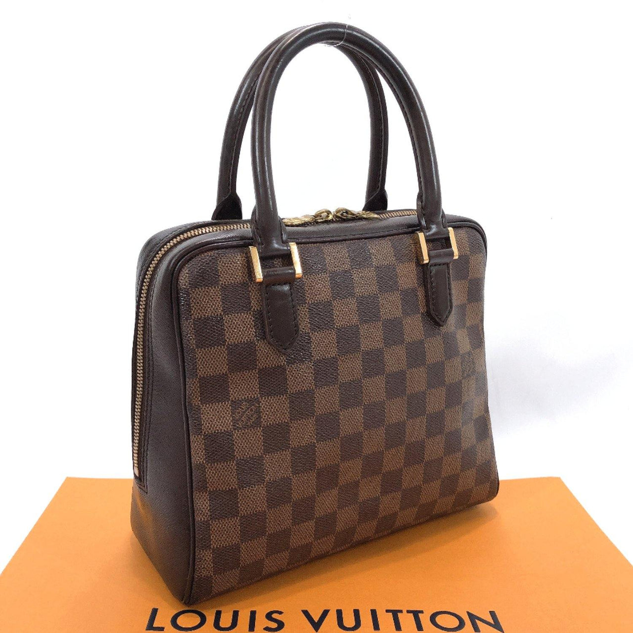 LOUIS VUITTON Handbag N51150 Brera Damier canvas/leather Brown Women Used