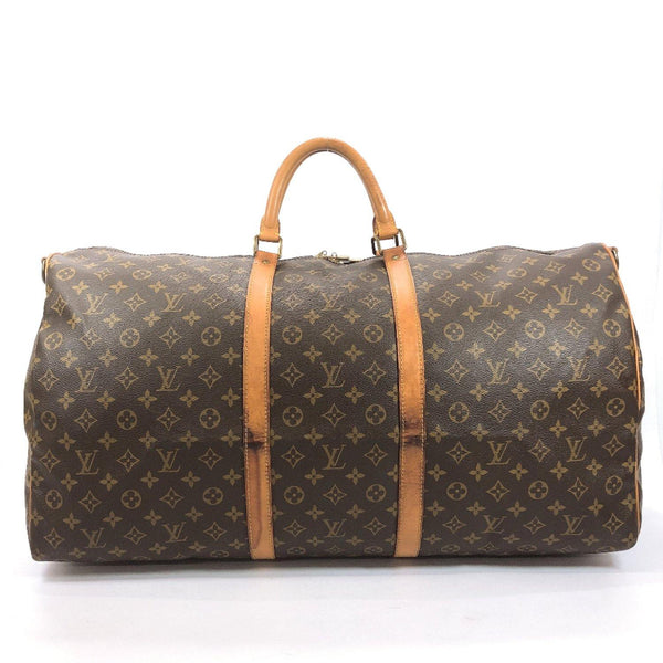 LOUIS VUITTON Boston bag M41412 Keepall Bandouliere60 Monogram canvas/Leather Brown unisex Used