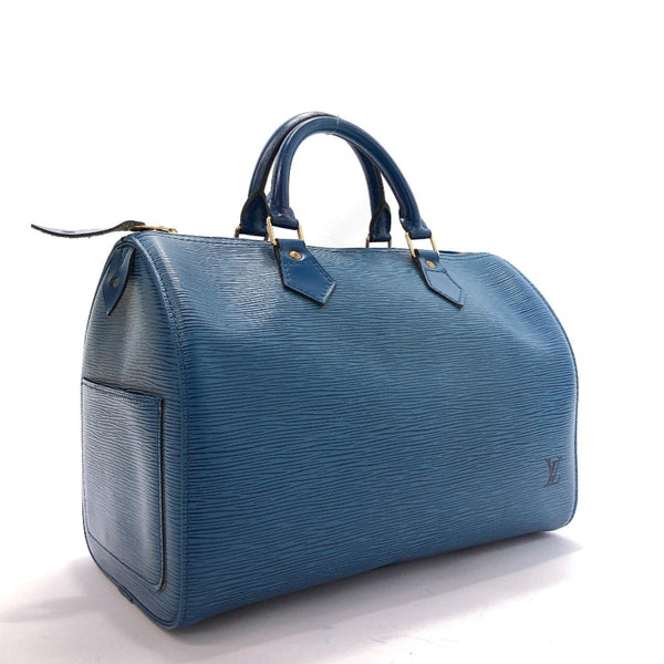 LOUIS VUITTON Handbag M43005 Speedy 30 vintage Epi Leather blue Women Used