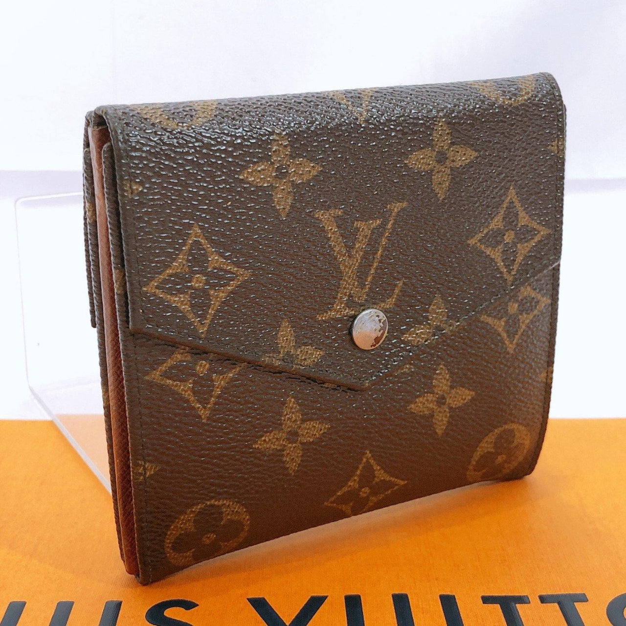 LOUIS VUITTON wallet M61660  Portonebier Cartes Crédit Double Sided Monogram canvas Brown Women Used