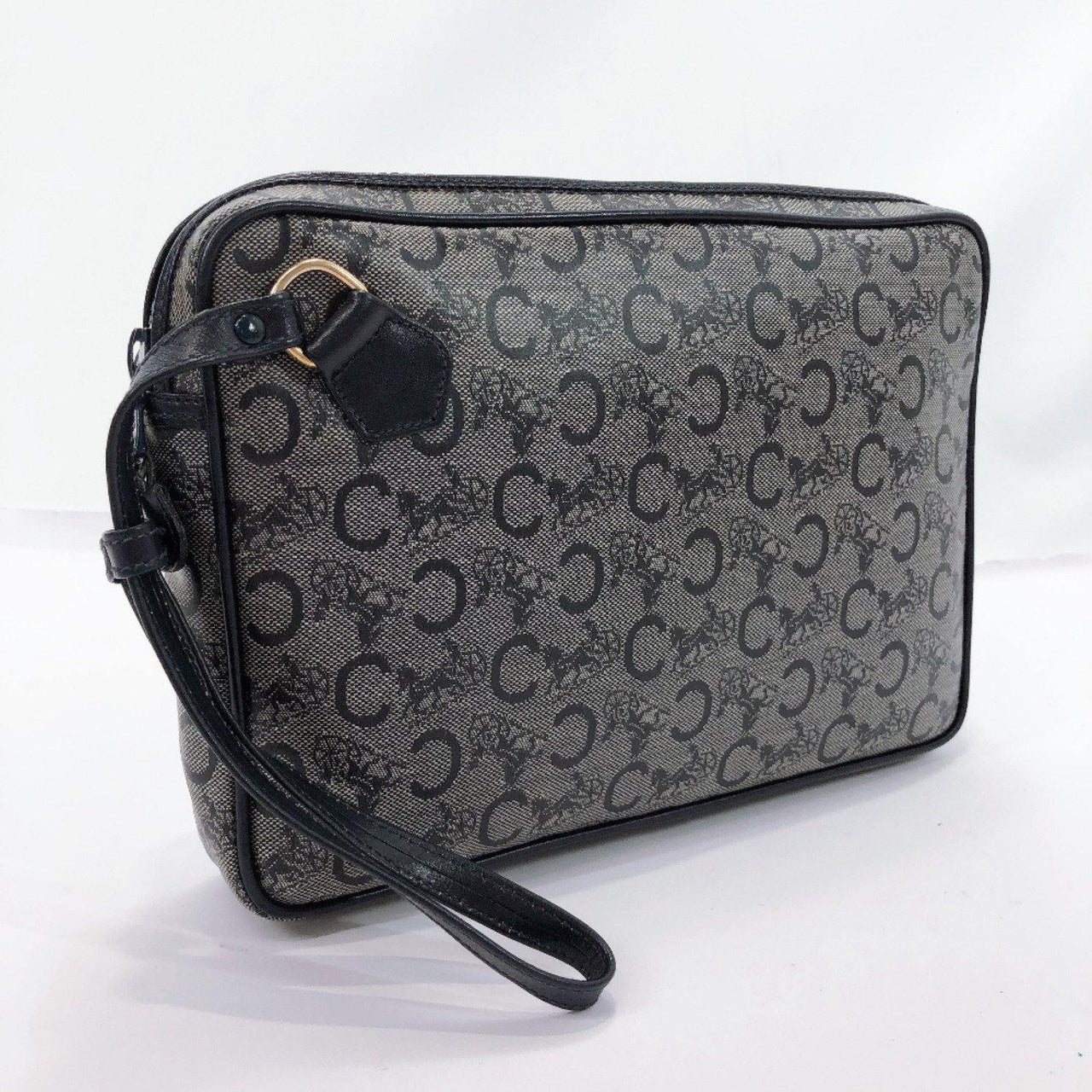 CELINE Clutch bag DIFFUSION PVC/leather Navy mens Used - JP-BRANDS.com