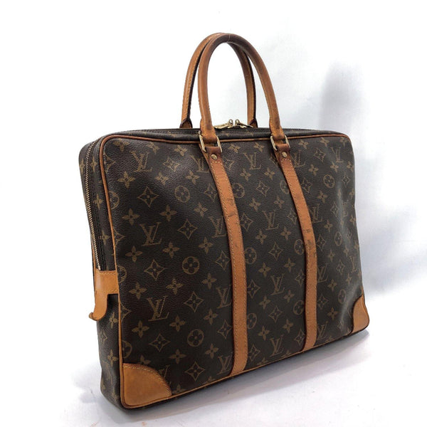 LOUIS VUITTON Business bag M40226 Voyage Monogram canvas Brown mens Used