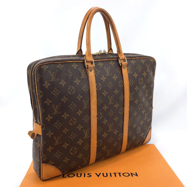 LOUIS VUITTON Business bag M40226 Porte Documan Voyage Monogram canvas Brown mens Used