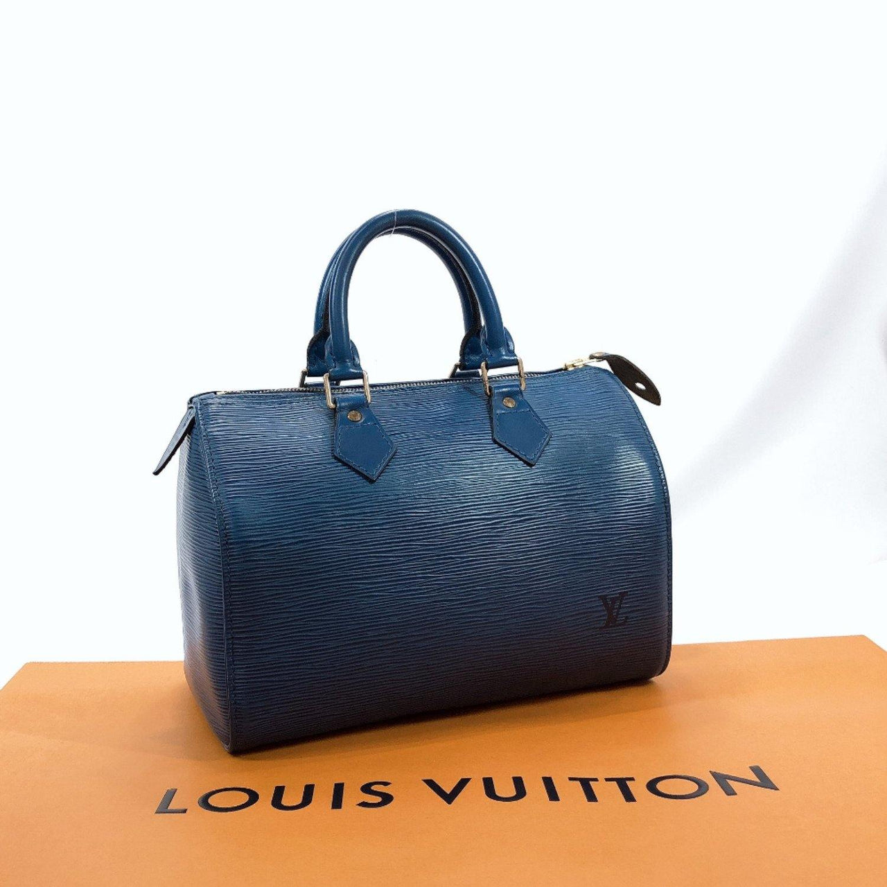LOUIS VUITTON Handbag M43015 Speedy 25 vintage Epi Leather blue Women Used