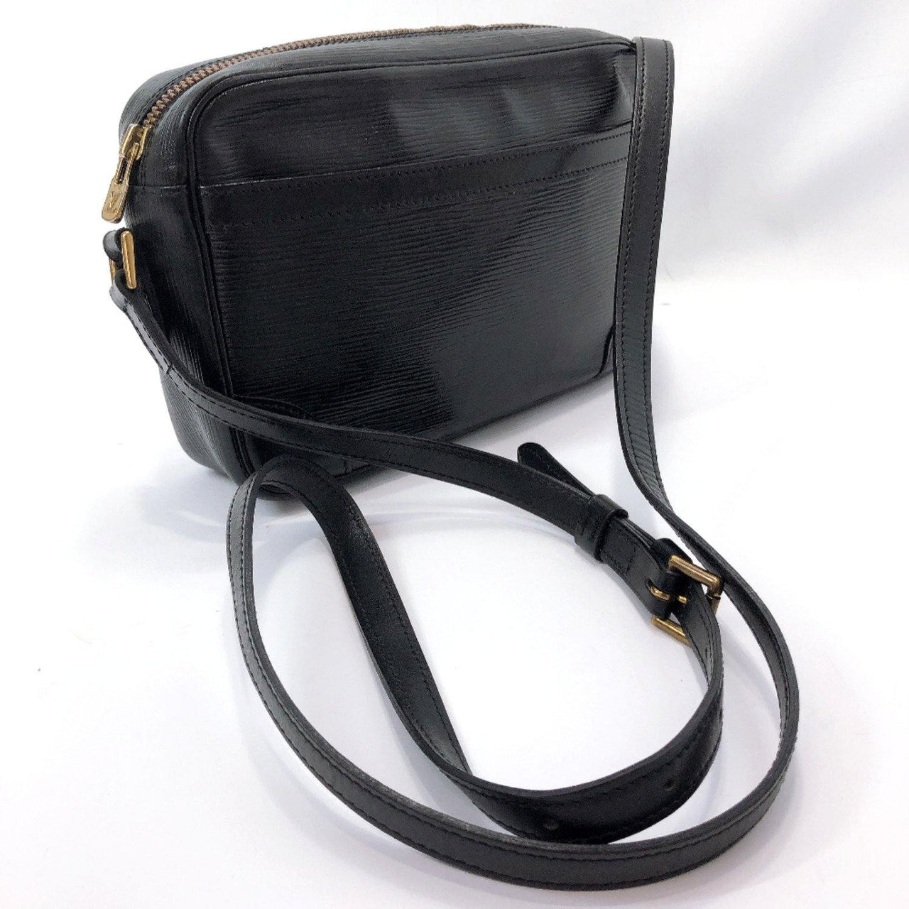 LOUIS VUITTON Shoulder Bag M52312 Trocadero 24 Epi Leather black Women Used