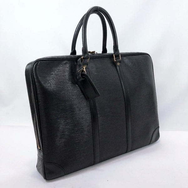 LOUIS VUITTON Business bag M59162 Porte Documan Voyagej Epi Leather black mens Used