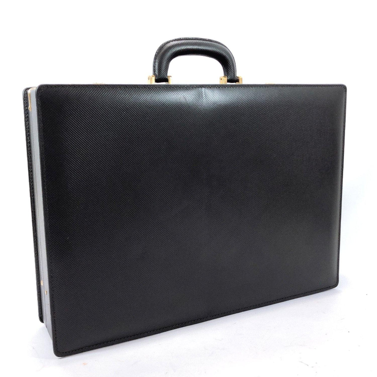 BOTTEGAVENETA Business bag Attache case leather black mens Used - JP-BRANDS.com