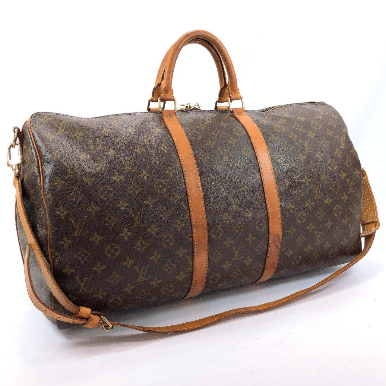 LOUIS VUITTON Boston bag M41414 Keepall Bandouliere 55 Monogram canvas Brown unisex Used - JP-BRANDS.com