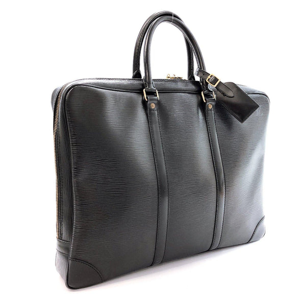 LOUIS VUITTON Business bag M59162 Porte de Cuman Voyage Epi Leather black mens Used