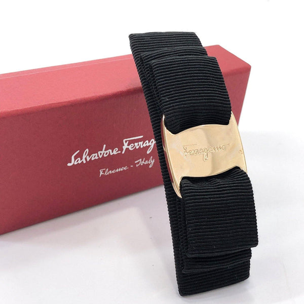 Salvatore Ferragamo Valletta Vala metal/Nylon black Women Used