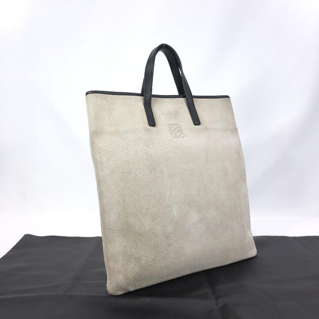 LOEWE Tote Bag L29 anagram Suede/leather beige Women Used