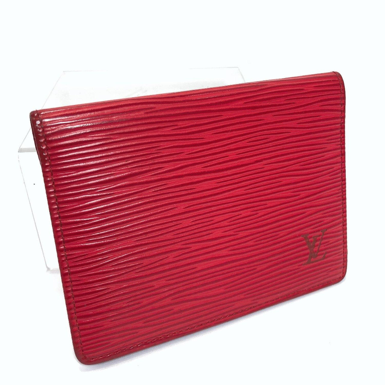 LOUIS VUITTON Pass case  M63207 Porto 2 cult Vertical Epi Leather Red unisex Used - JP-BRANDS.com