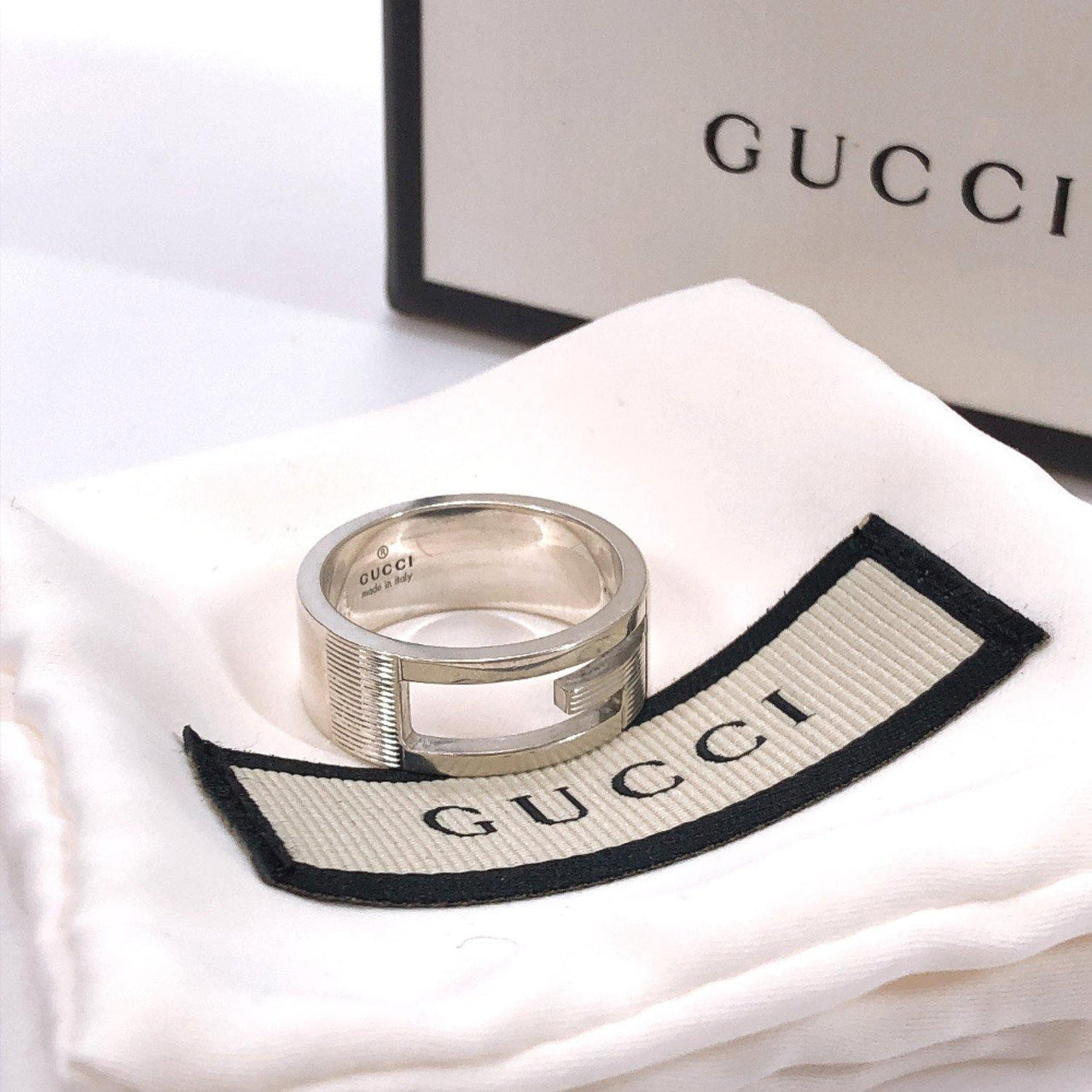 GUCCI Ring Silver925 16 Silver mens Used