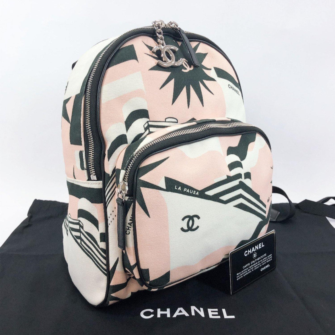 CHANEL Backpack Daypack S0103 Y84107 cruise canvas pink Women Used