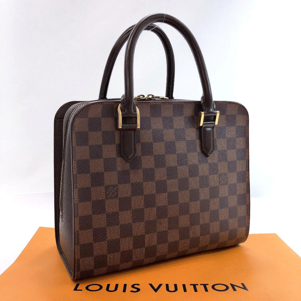LOUIS VUITTON Handbag N51155 Triana Damier canvas Brown Women Used - JP-BRANDS.com