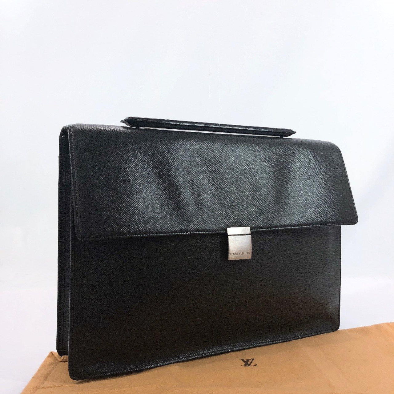 LOUIS VUITTON Business bag M30772 Porte-Documents アンガラ Taiga black mens Used - JP-BRANDS.com
