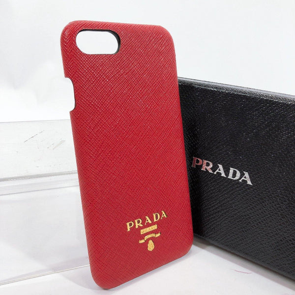 PRADA Other accessories For iPhone 6.7.8 Safiano leather Red Women Used