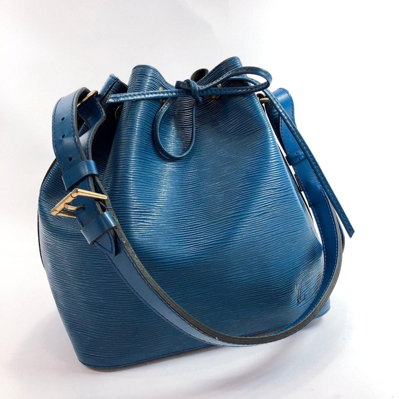 LOUIS VUITTON Shoulder Bag M44105 Petit Noe Epi Leather blue Women Used