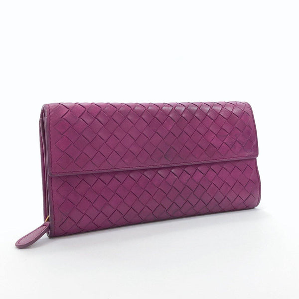BOTTEGAVENETA purse Intrecciato leather purple Women Used