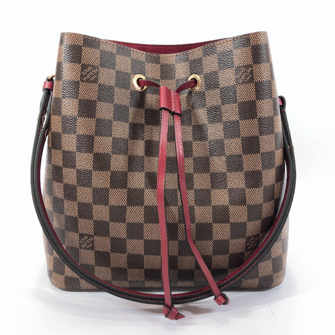 LOUIS VUITTON Shoulder Bag N40214 Neonoe Damier canvas Brown Cherry berry Women New - JP-BRANDS.com
