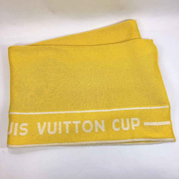 LOUIS VUITTON Scarf Louis Vuitton cup cotton/Ka Stains yellow mens Used