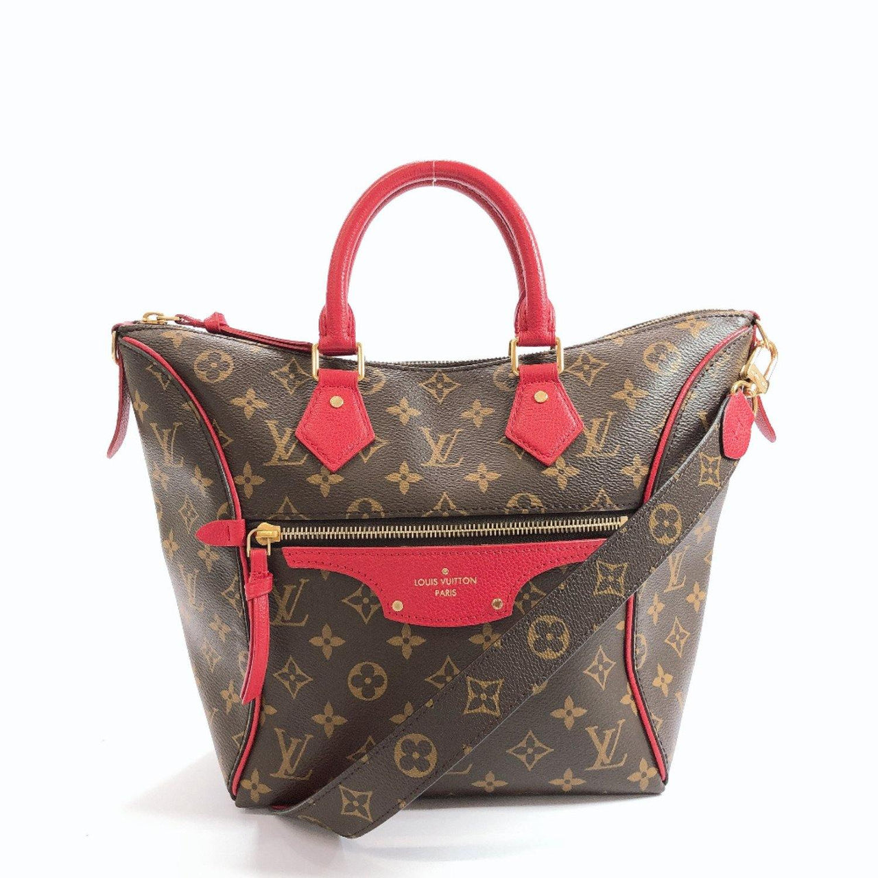 LOUIS VUITTON Tote Bag M44027 Turnel PM Monogram canvas Brown Women Used - JP-BRANDS.com