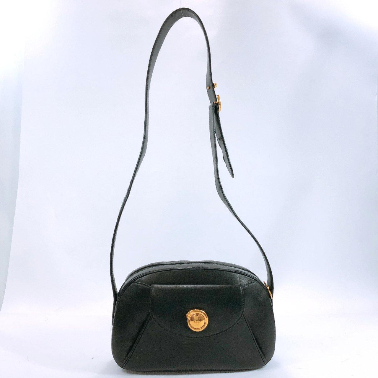 CARTIER Shoulder Bag PANTHERE leather black Gold Hardware Women Used - JP-BRANDS.com