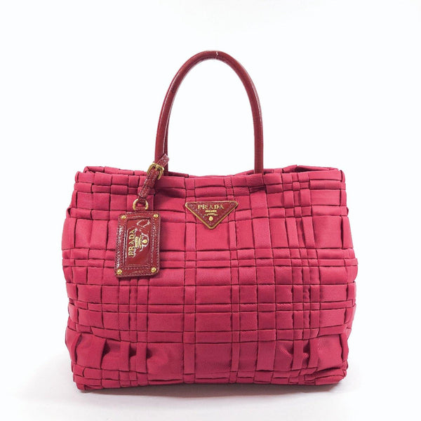 PRADA Handbag Nylon wine-red Women Used