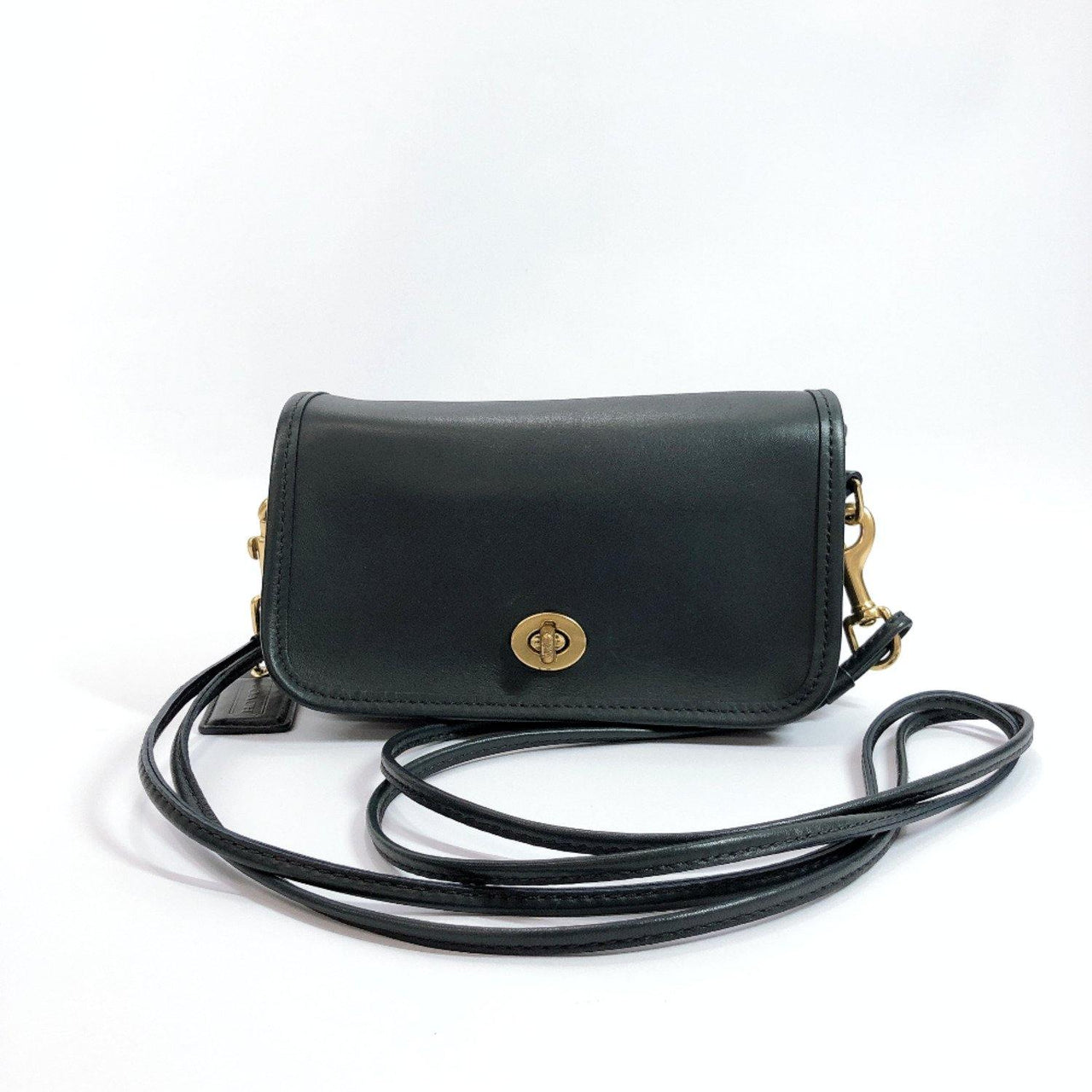 COACH Shoulder Bag 17994 leather black Women Used